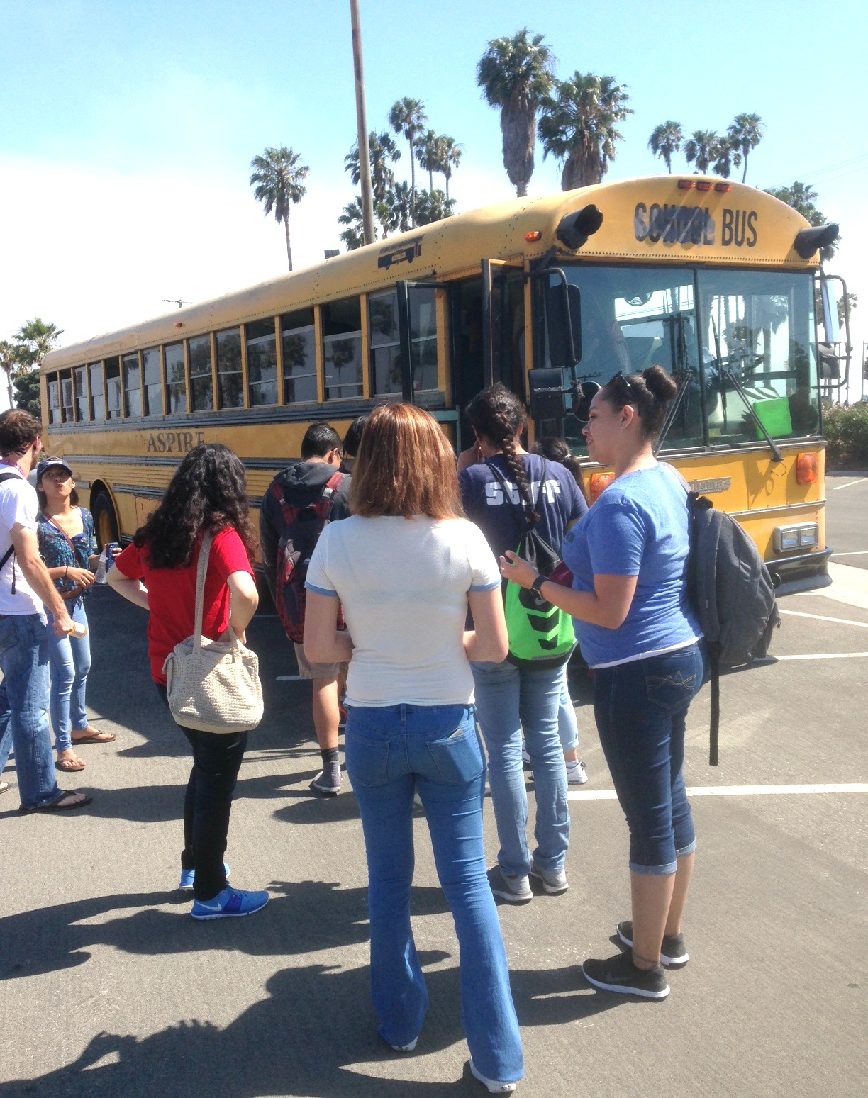 Bus tours take high school students to colleges and maybe their after touring santa barbara city college the la harbor area high school students board the falaconquin